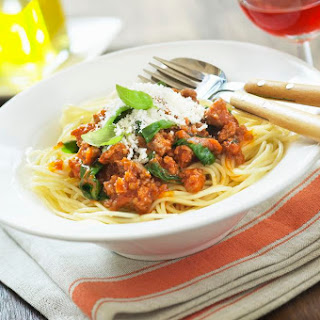 Beef and Spinach in Tomato Sauce.