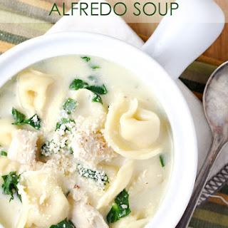 Chicken Tortellini Alfredo Soup.