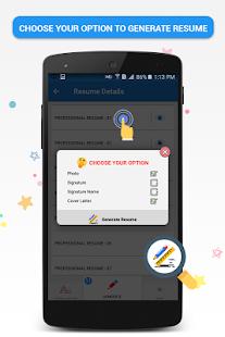 pocket resume builder app professional cv maker screenshot thumbnail - Cv Maker App