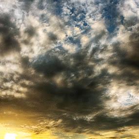 Sunset at Chittagong by Arafat Chowdhury - Landscapes Sunsets & Sunrises ( sunset, sunray railway crossing, station people yellow rays bangladesh clouds, circle, pwc79, World, Beauty, Beautiful, Representing, Special )