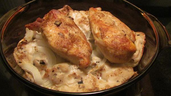 Vidalia Onion, Chicken,& Mushroom  Casserole Recipe