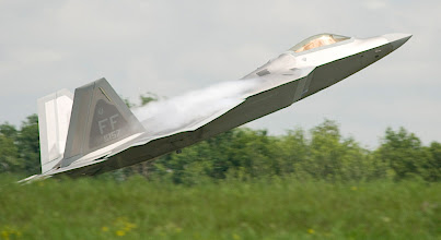 Photo: The F-22 Raptor is the Air Force's newest fighter aircraft takes off from St. Cloud.