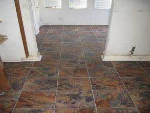 Photo: Armstrong vinyl flooring slate pattern installation by floorswedo.com