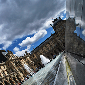 Louvre by Richard Huntjens - Buildings & Architecture Public & Historical ( abstract, louvre, sky, window, artistic, outside )