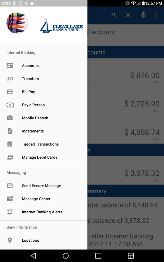 Clear Lake Bank & Trust Mobile- screenshot