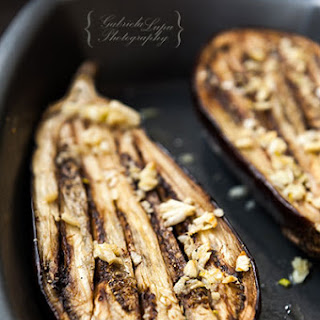 Roasted Eggplant with Lemon Garlic Sauce