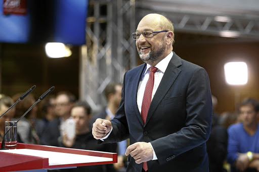 Opposition-bound: Social Democratic Party leader and top SPD candidate Martin Schulz gives a statement to the media at the party headquarters in Berlin, Germany, after his election loss. Picture: REUTERS