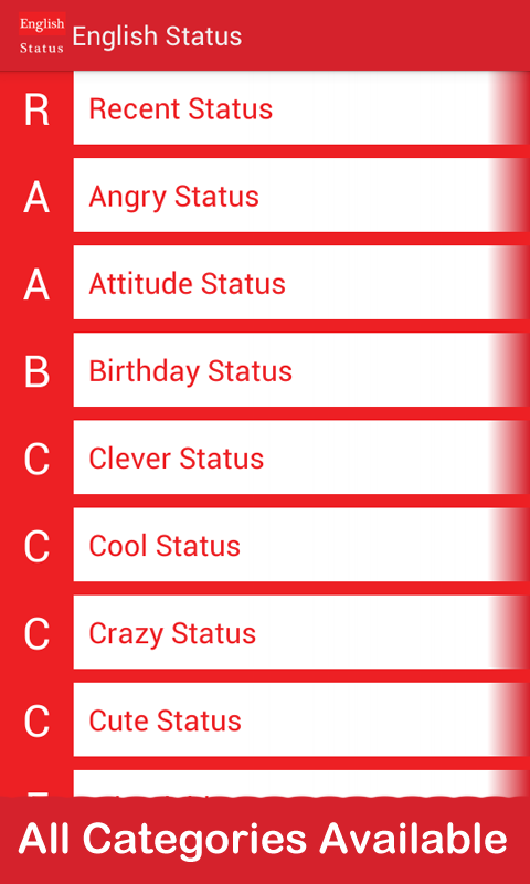 English Status Only - Android Apps on Google Play