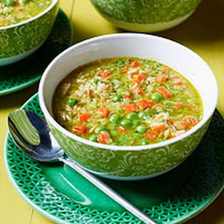 Pea & Carrot Soup with Rice.