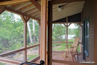 Photo: Porch at Perry Merrill cottage at Ricker Pond State Park