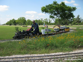 Photo: Paul King at Cabin Creek with the wildflowers.  HALS-SLWS 2009-0522