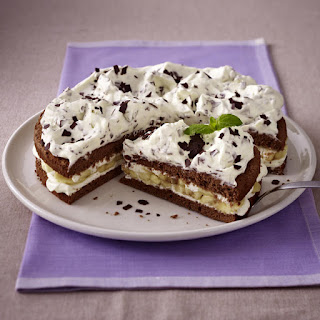 Chocolate Layer Cake with Banana Cream Filling