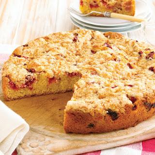 Rhubarb Streusel Cake