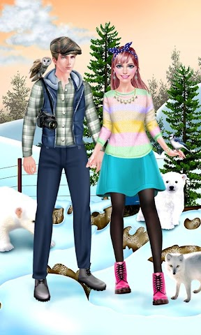 android First Date Salon - Winter Zoo Screenshot 1