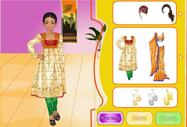 android Indian Bride Dress Up Makeover Screenshot 9