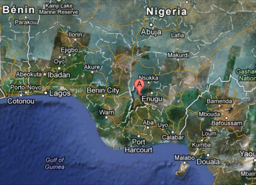 A indicates Anambra state on Google Maps.