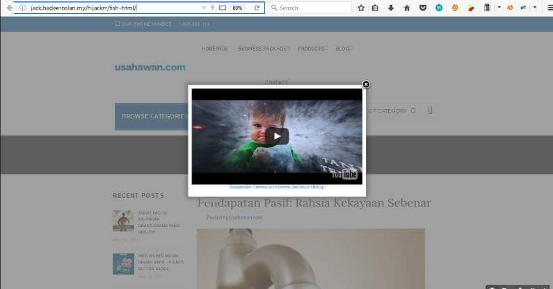 WordPress Plugin Review Hijackrr HTML Popup