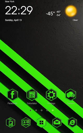 BlackGreen Go Launcher Theme