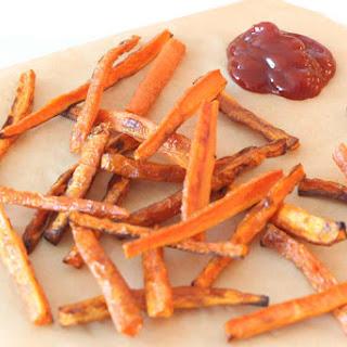 Crispy Garlic Carrot Fries.