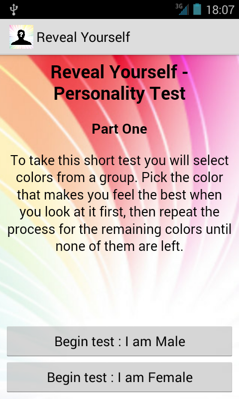 Reveal Uself Personality Test- screenshot