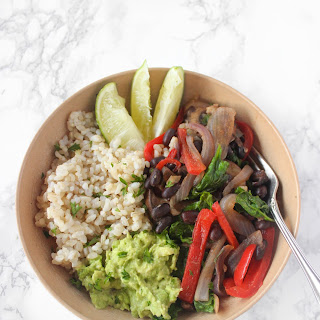 Simple Vegetarian Fajita Bowls