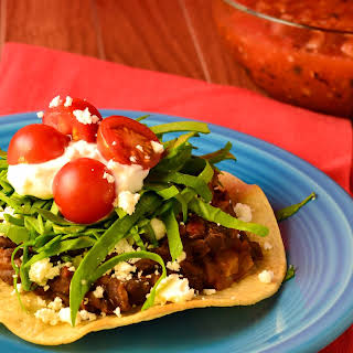 Vegetarian Tostadas With Spicy Black Beans (+gluten free).