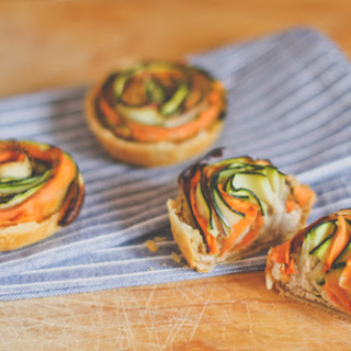 Vegetable Spiral Mini Tarts.