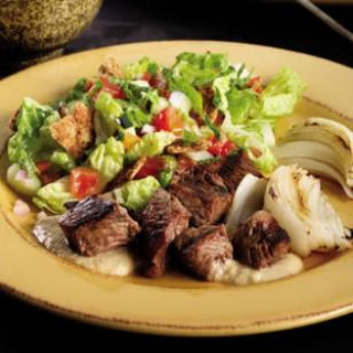Lebanese Fattoush Salad with Grilled Chicken.