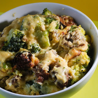 Broccoli Cheese Meat Feast Bake Recipe