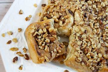 Banana Nut Sticky Buns for Bread Maker