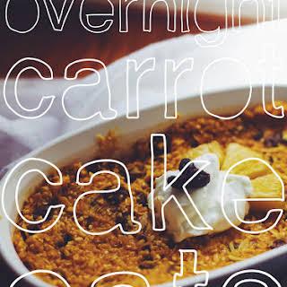 Overnight Carrot Cake Oats.