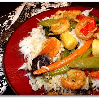 Thai Coconut Shrimp Stir-fry.