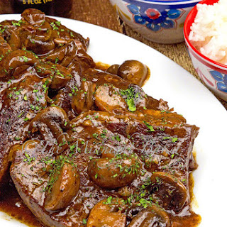 Slow Cooker Teriyaki Sirloin Tip Steaks.