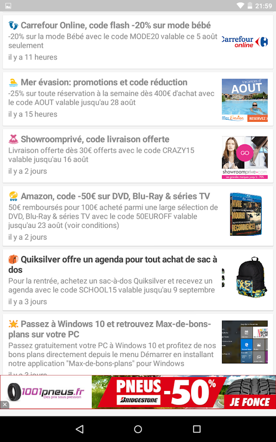 😎 Max de bons plans– captura de ecrã