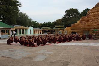 Photo: Year 2 Day 56 - Monks Worshipping at the Stupa of Lawkananda Pagoda #2