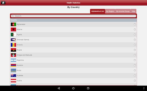 HealthStats DataFinder- screenshot thumbnail