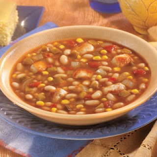 Southwestern Chicken & White Bean Soup
