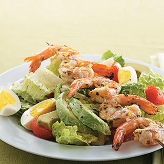 Citrus Caesar Salad with Spicy Shrimp.