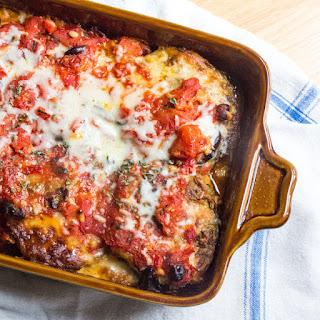Eggplant Pesto Parmesan Lasagna