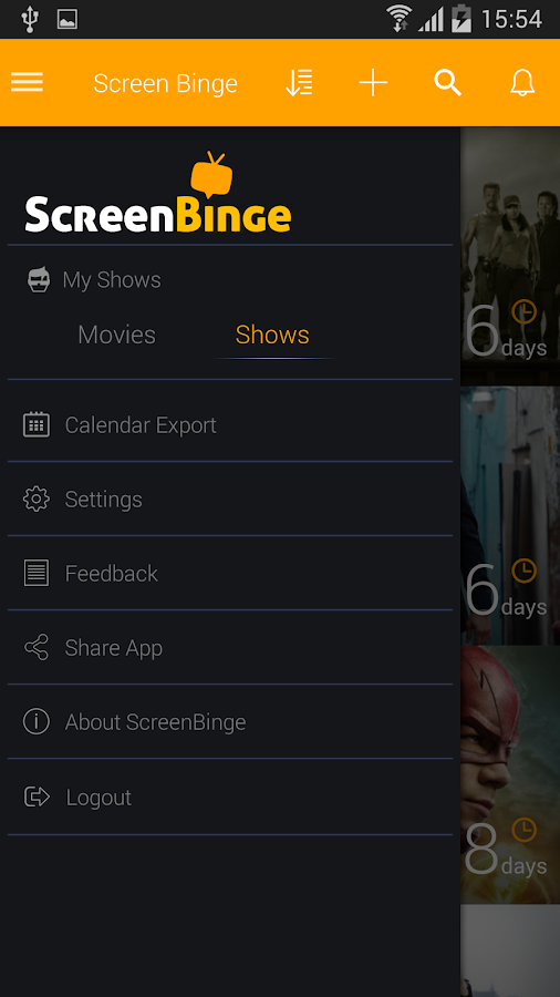 ScreenBinge: Track Movies & TV- screenshot