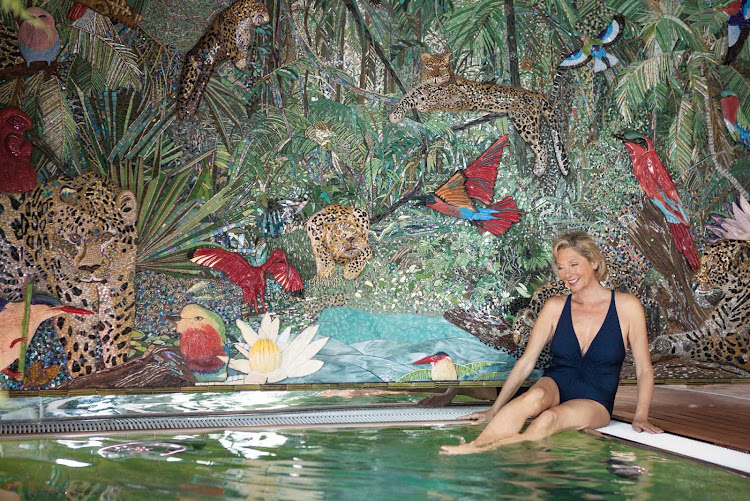 """The """"wild"""" pool on the S.S. Catherine, a Uniworld cruise ship."""