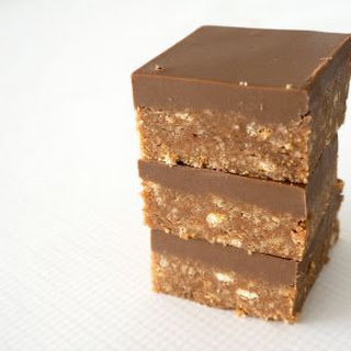 New and Improved No Bake Chocolate Caramello Slice.