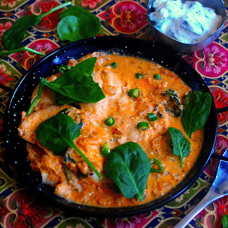 Indian Creamy Cashew Chicken Curry