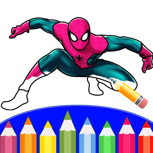 Spider Hero Amazing Coloring Book
