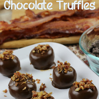 Easy Chocolate Maple Bacon Truffles