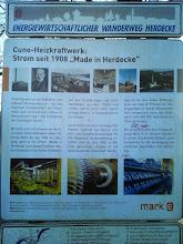 Photo: Informationstafel am Kraftwerk.