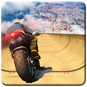 Impossible Mega Ramp Moto Bike Rider: Superhero 3D