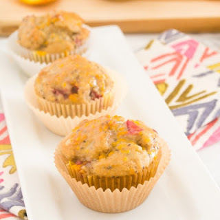 Strawberry Orange Ricotta Chia Seed Muffins.