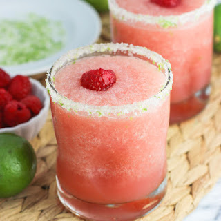 Tropical Citrus Raspberry Frozen Margaritas.