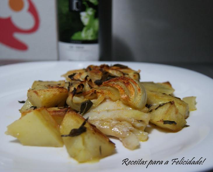 Hake and Baked Potato with Green Tea
